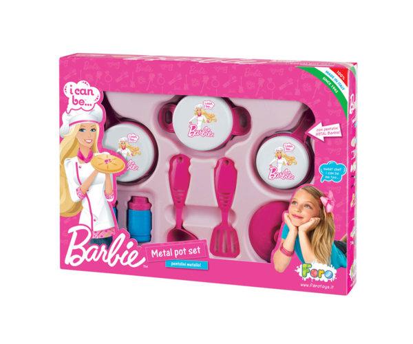 Комплект съдове за готвене Барби